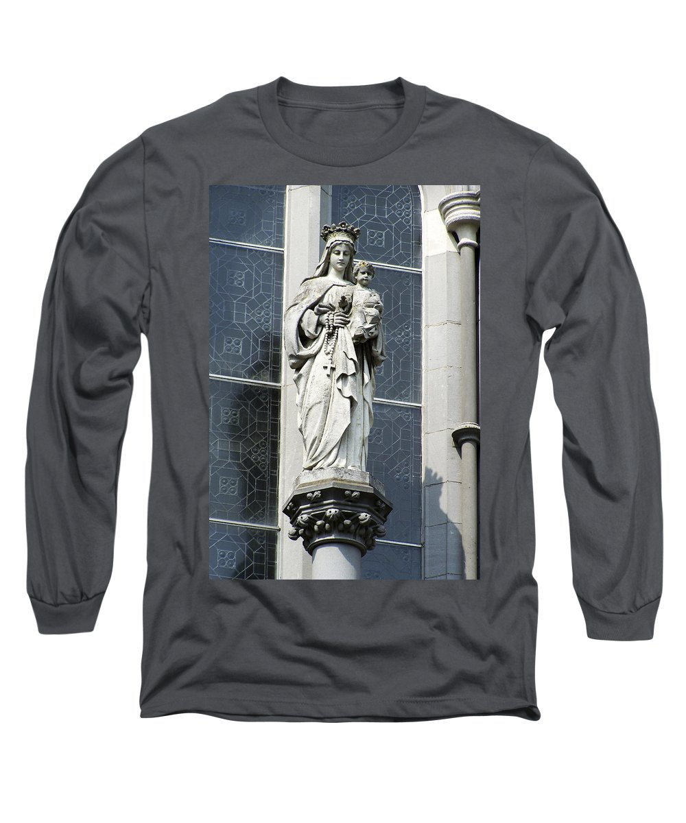 Ireland Long Sleeve T-Shirt featuring the photograph Madonna And Child by Teresa Mucha