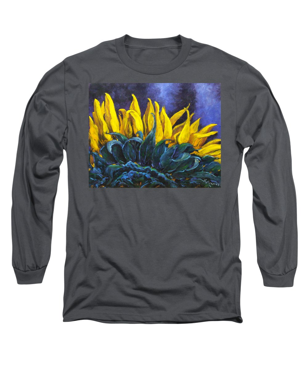 Flower Long Sleeve T-Shirt featuring the painting Majestica by Richard T Pranke