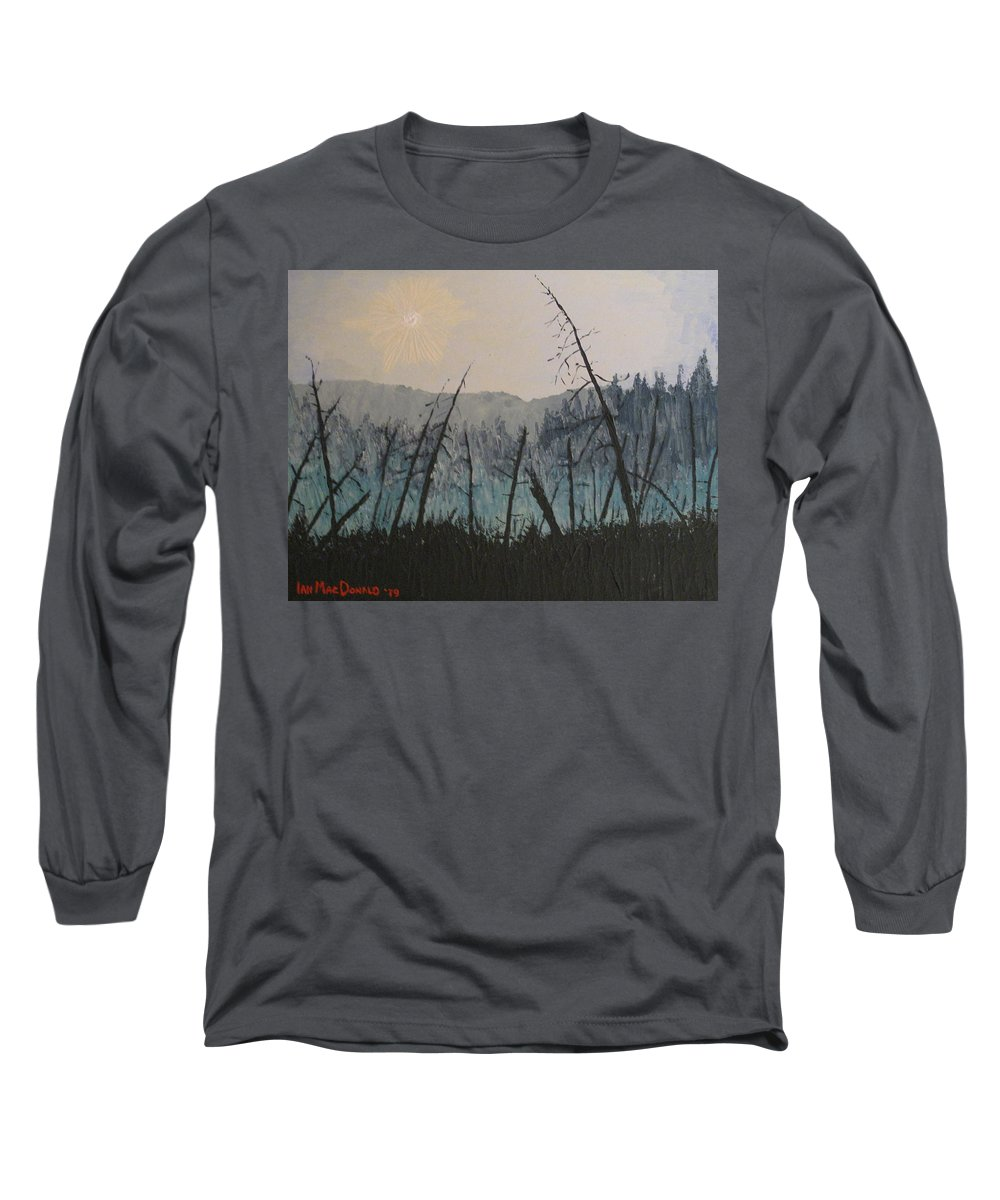 Northern Ontario Long Sleeve T-Shirt featuring the painting Manitoulin Beaver Meadow by Ian MacDonald