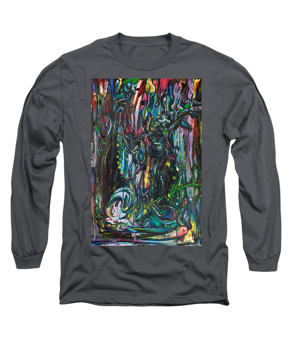 Surreal Long Sleeve T-Shirt featuring the painting March Into The Sea by Sheridan Furrer
