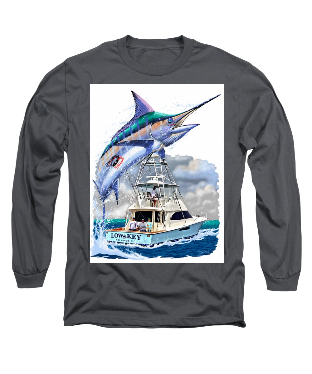 Marlin Long Sleeve T-Shirt featuring the digital art Marlin Commission by Carey Chen