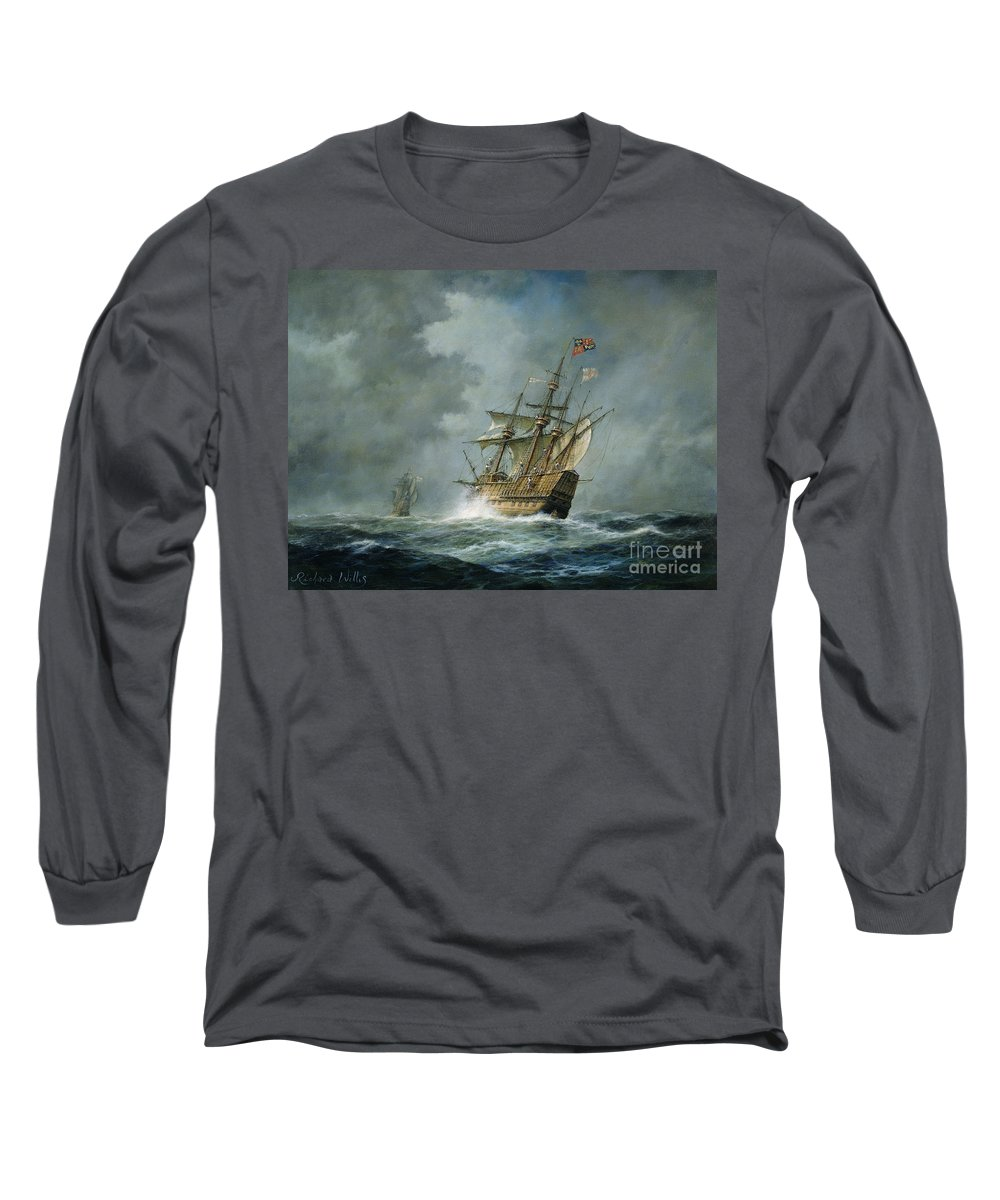 Mary Rose Long Sleeve T-Shirt featuring the painting Mary Rose by Richard Willis