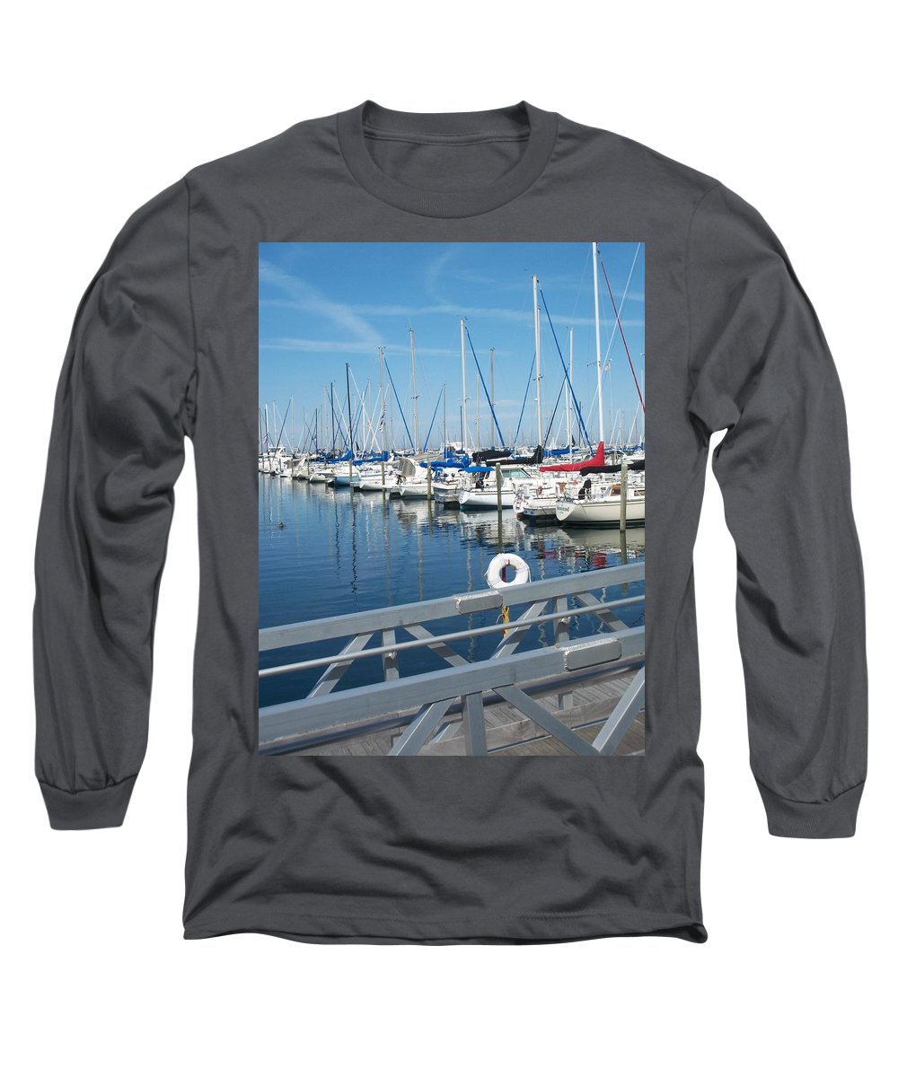 Mckinley Marina Long Sleeve T-Shirt featuring the photograph Mckinley Marina 5 by Anita Burgermeister