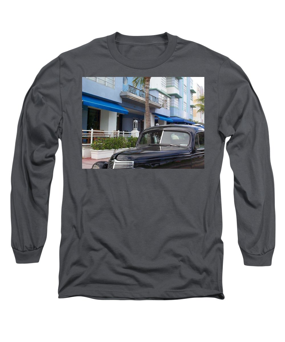 Charity Long Sleeve T-Shirt featuring the photograph Miami Beach by Mary-Lee Sanders
