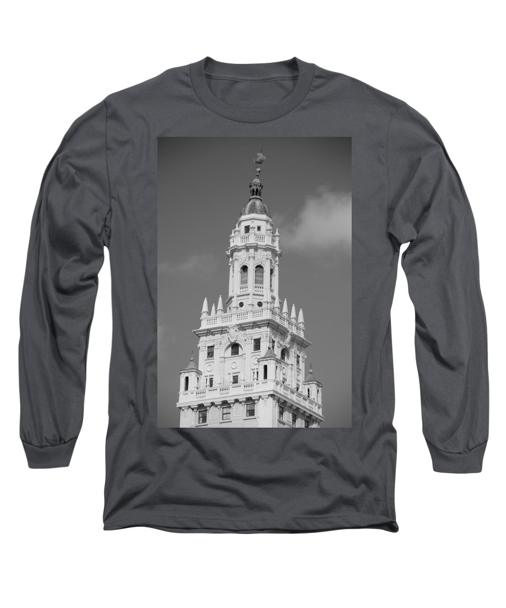 Architecture Long Sleeve T-Shirt featuring the photograph Miami Tower by Rob Hans