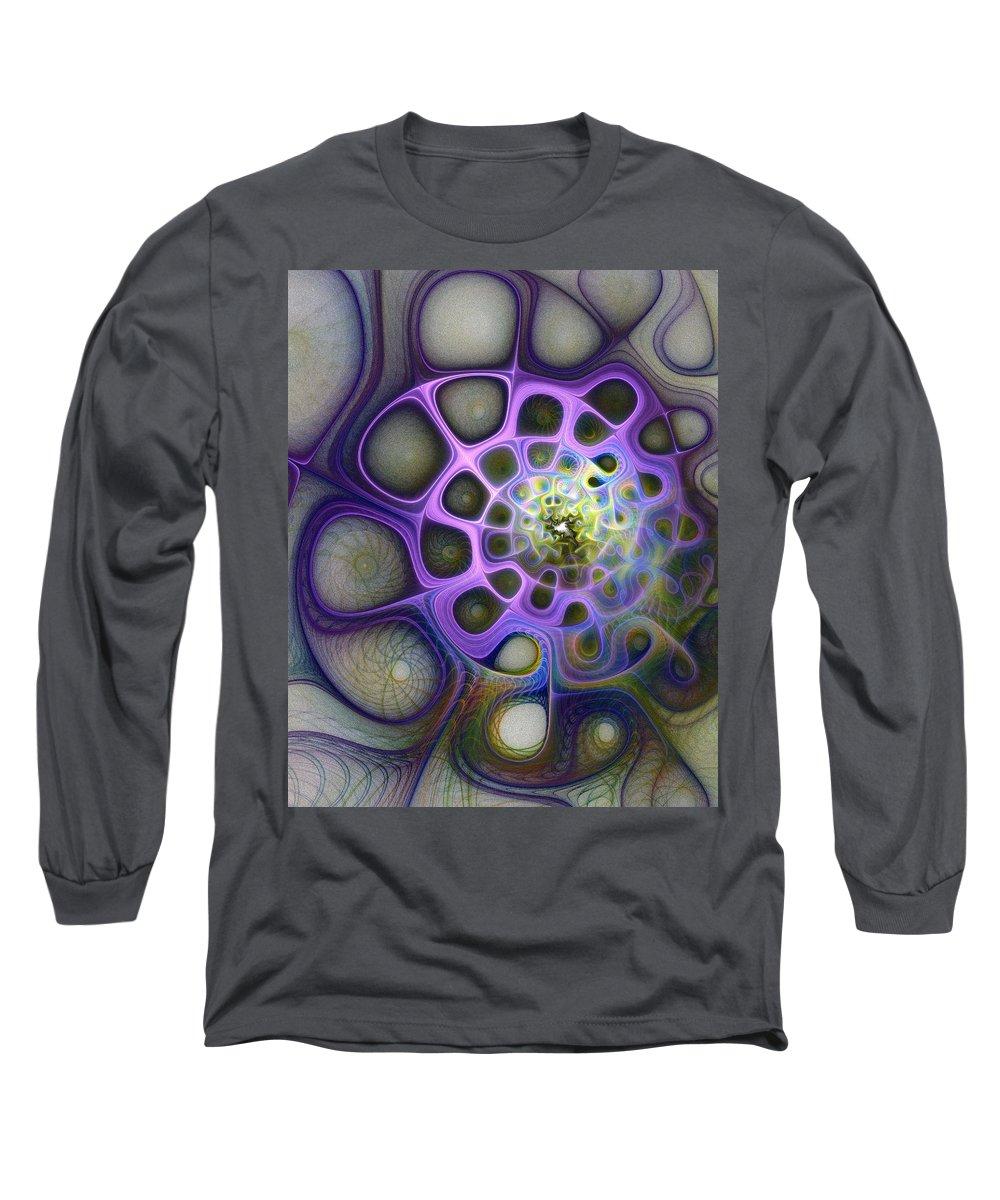 Digital Art Long Sleeve T-Shirt featuring the digital art Mindscapes by Amanda Moore