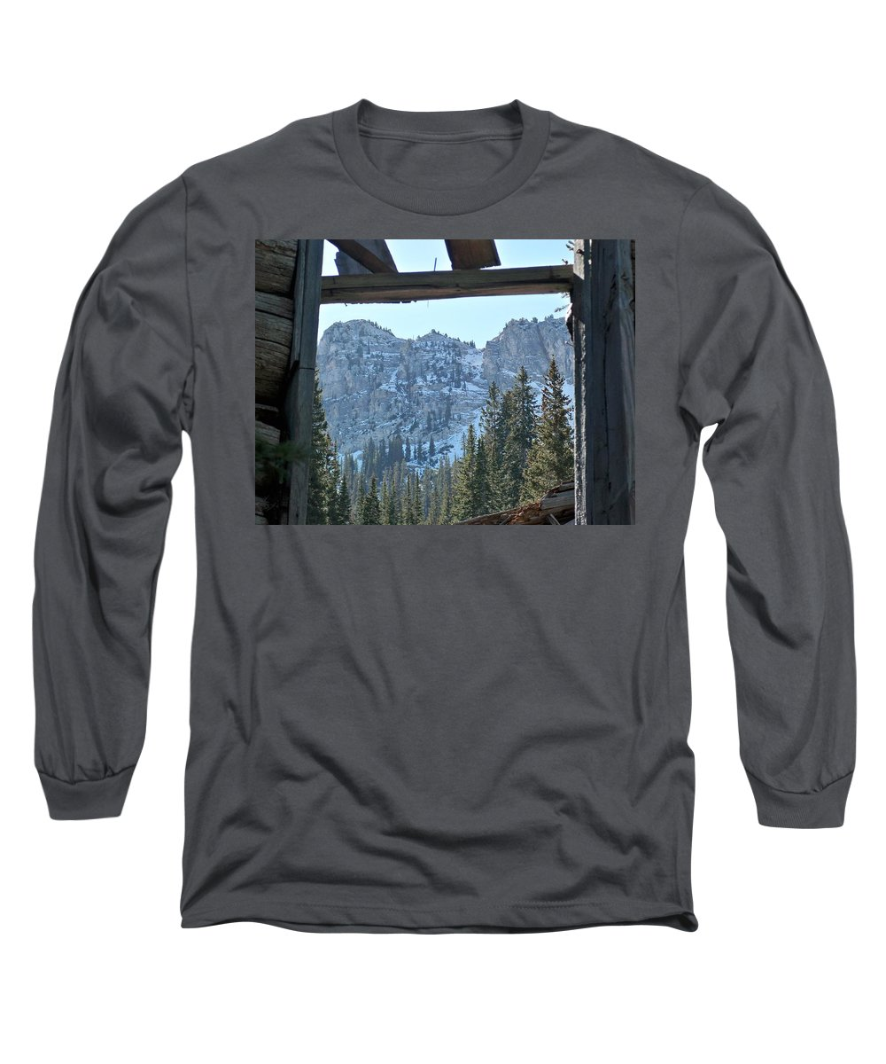 Mountain Long Sleeve T-Shirt featuring the photograph Miners Lost View by Michael Cuozzo