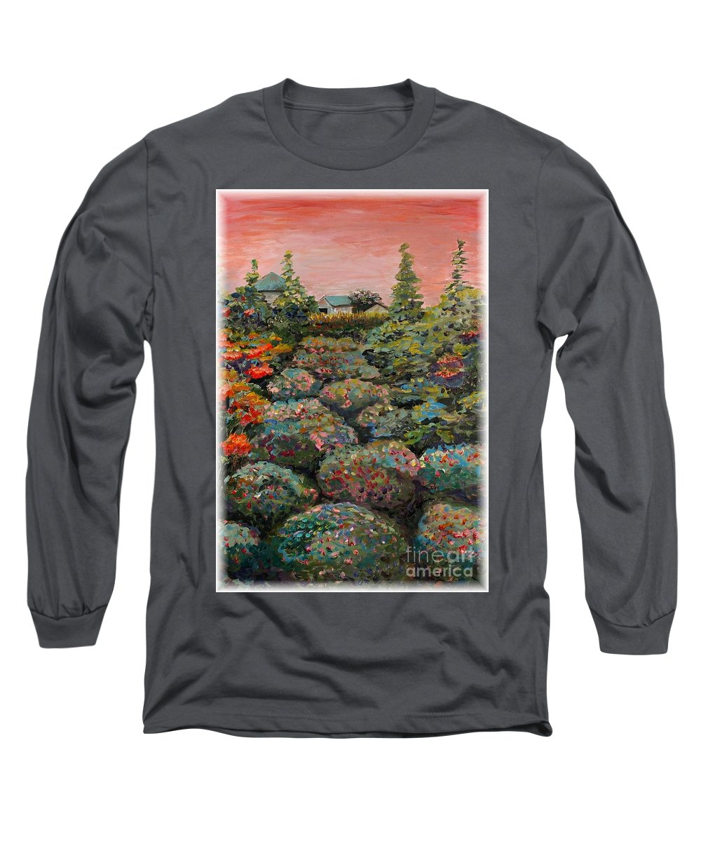 Minnesota Long Sleeve T-Shirt featuring the painting Minnesota Memories by Nadine Rippelmeyer