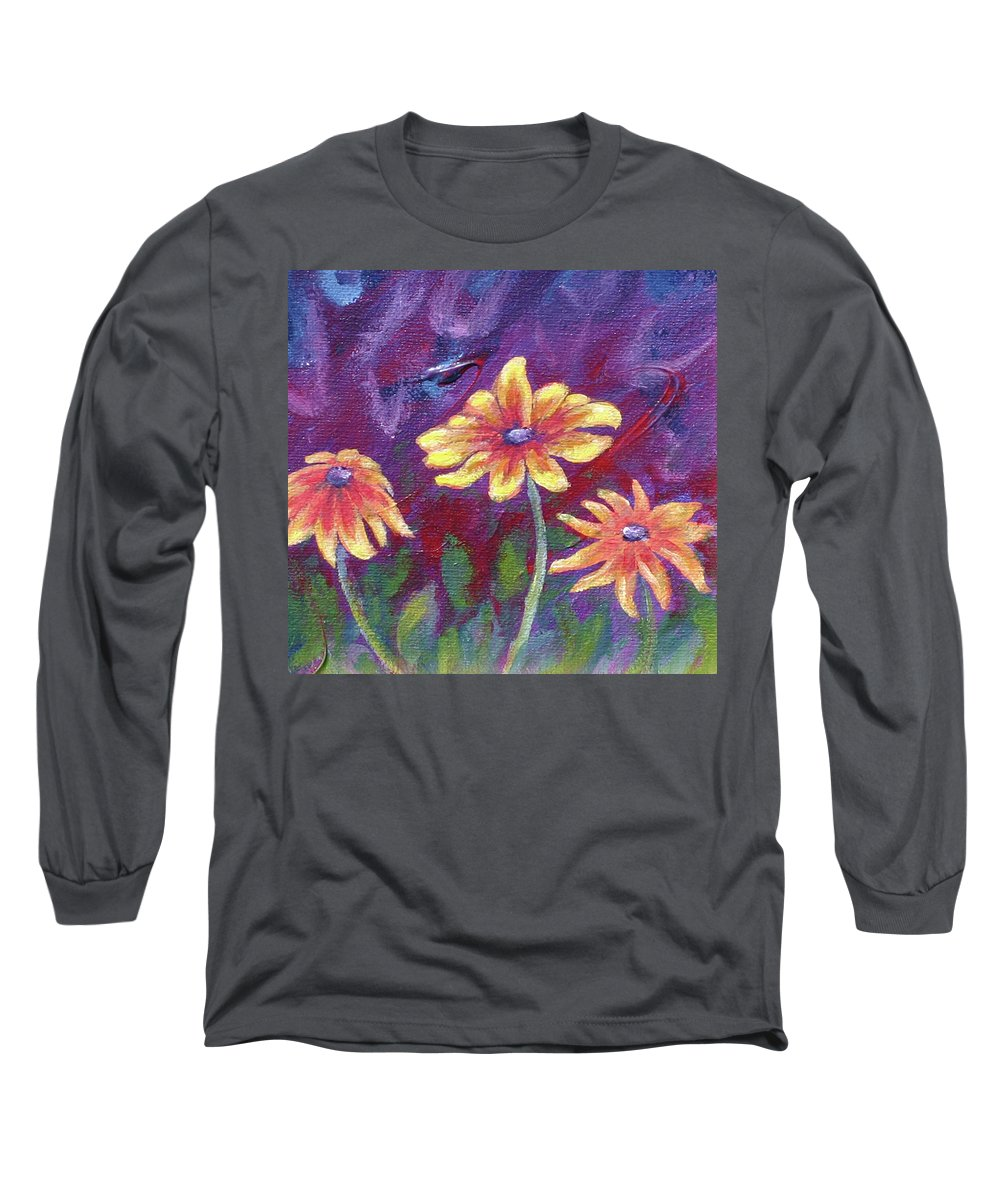 Small Acrylic Painting Long Sleeve T-Shirt featuring the painting Monet's Small Composition by Jennifer McDuffie