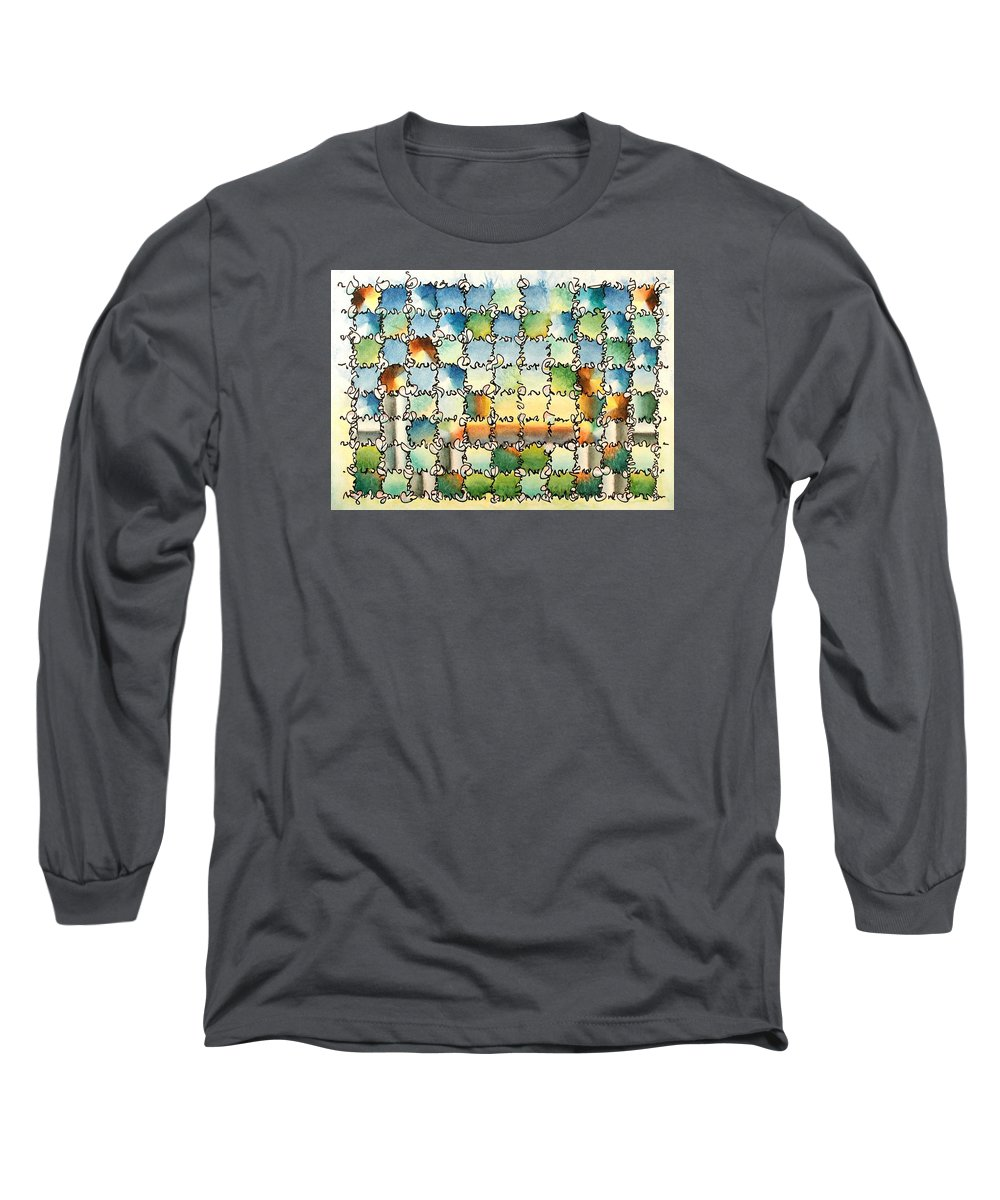 Watercolor Long Sleeve T-Shirt featuring the painting Morning Gateway by Dave Martsolf