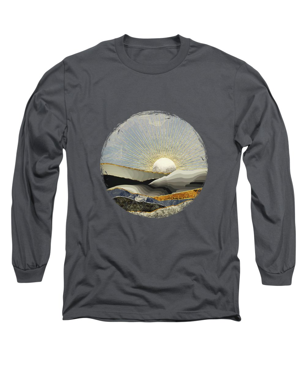 Morning Long Sleeve T-Shirt featuring the digital art Morning Sun by Katherine Smit