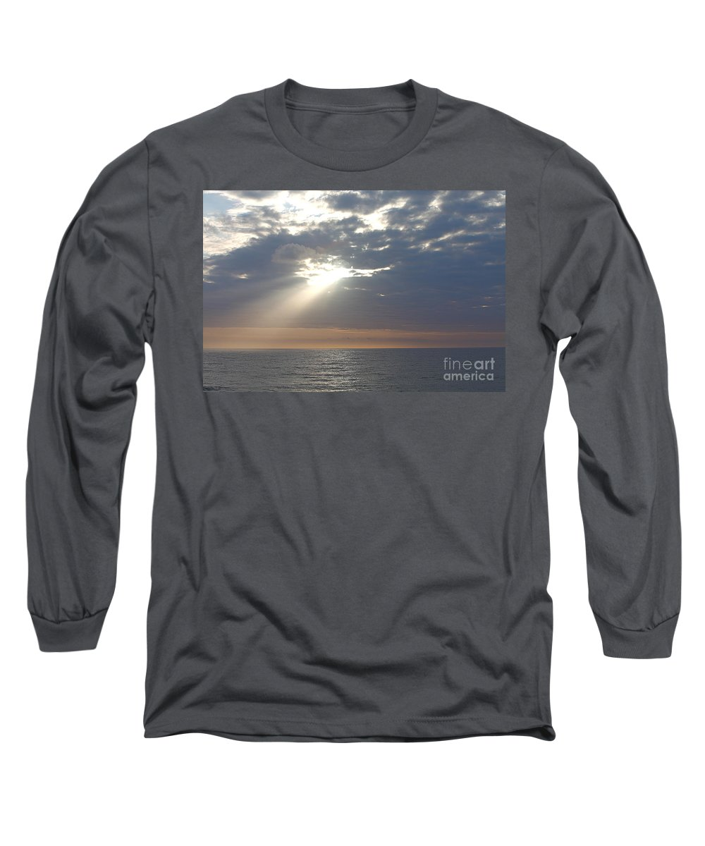 Sky Long Sleeve T-Shirt featuring the photograph Morning Sunburst by Nadine Rippelmeyer