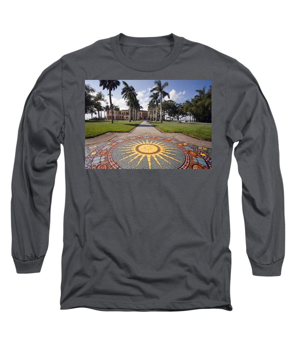 Mosaic Long Sleeve T-Shirt featuring the photograph Mosaic At The Ca D by Mal Bray