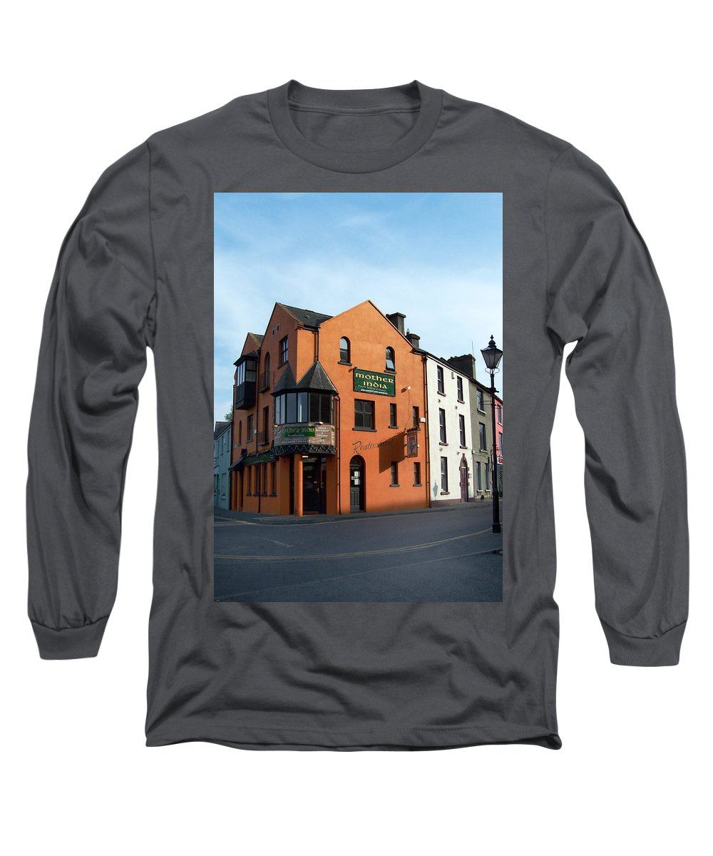 Ireland Long Sleeve T-Shirt featuring the photograph Mother India Restaurant Athlone Ireland by Teresa Mucha