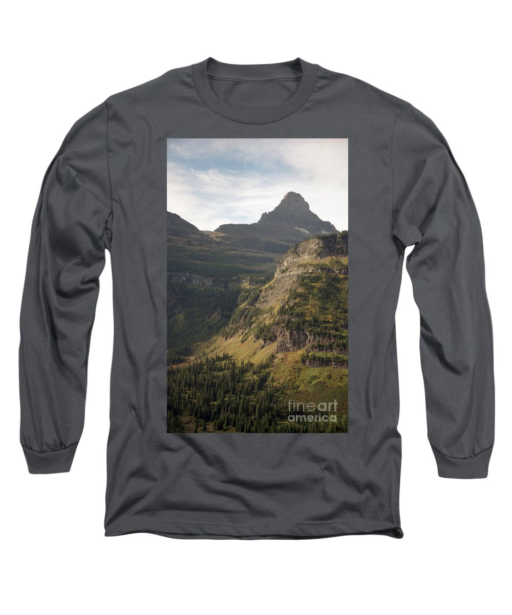 Glacier Long Sleeve T-Shirt featuring the photograph Mountain Glacier by Richard Rizzo