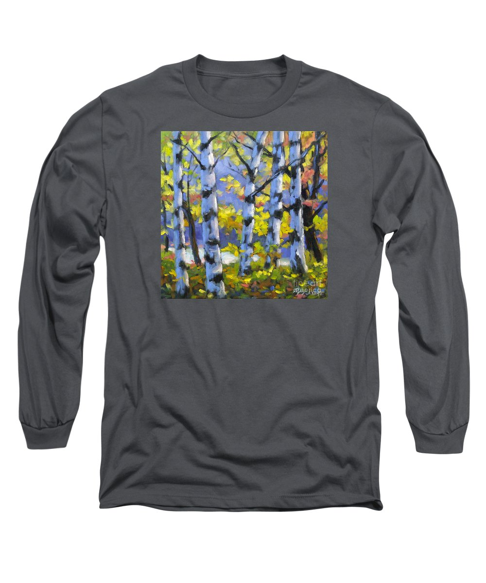 Art Long Sleeve T-Shirt featuring the painting Mountain View by Richard T Pranke