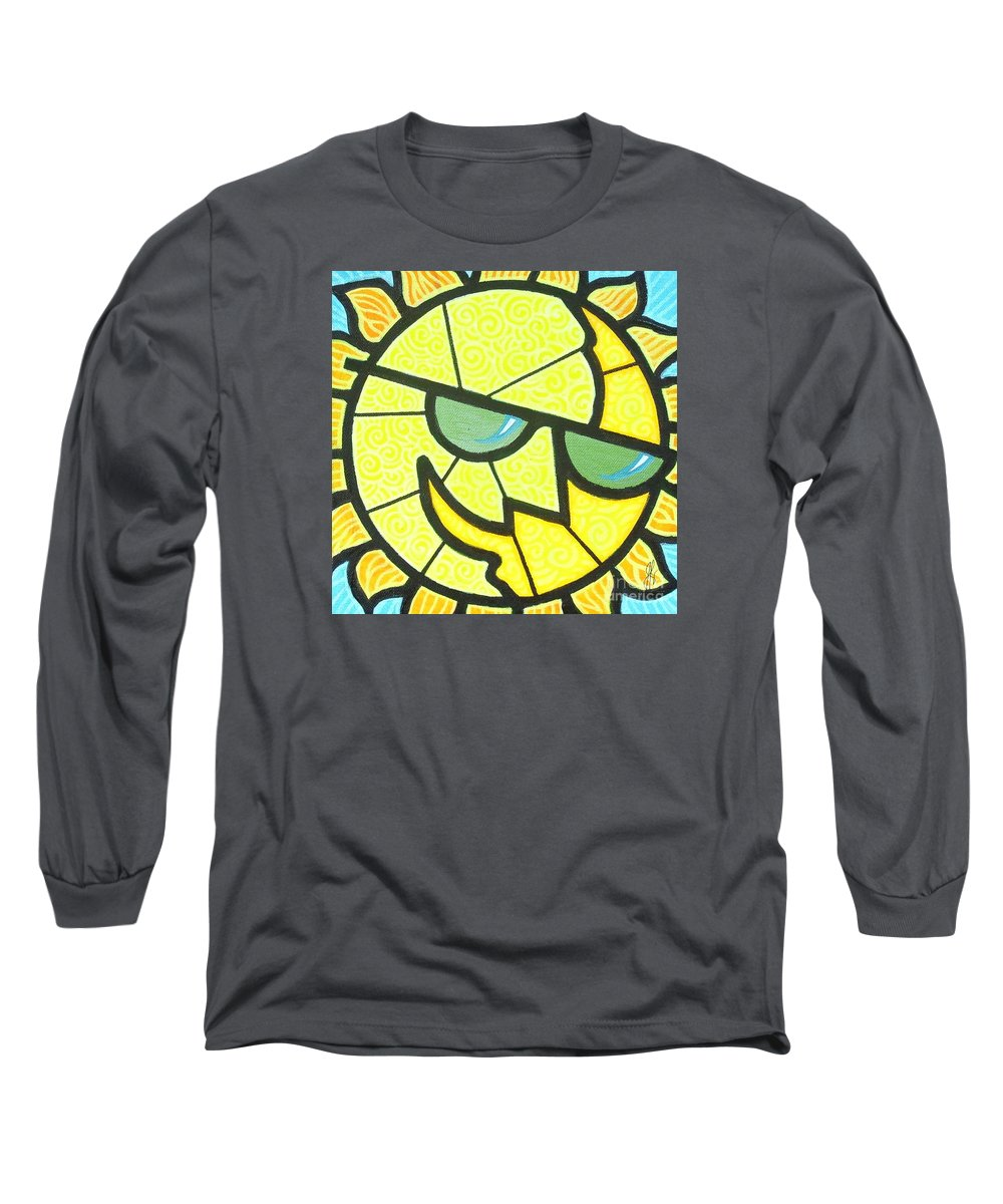 Sunshine Long Sleeve T-Shirt featuring the painting Mr Sunny Day by Jim Harris