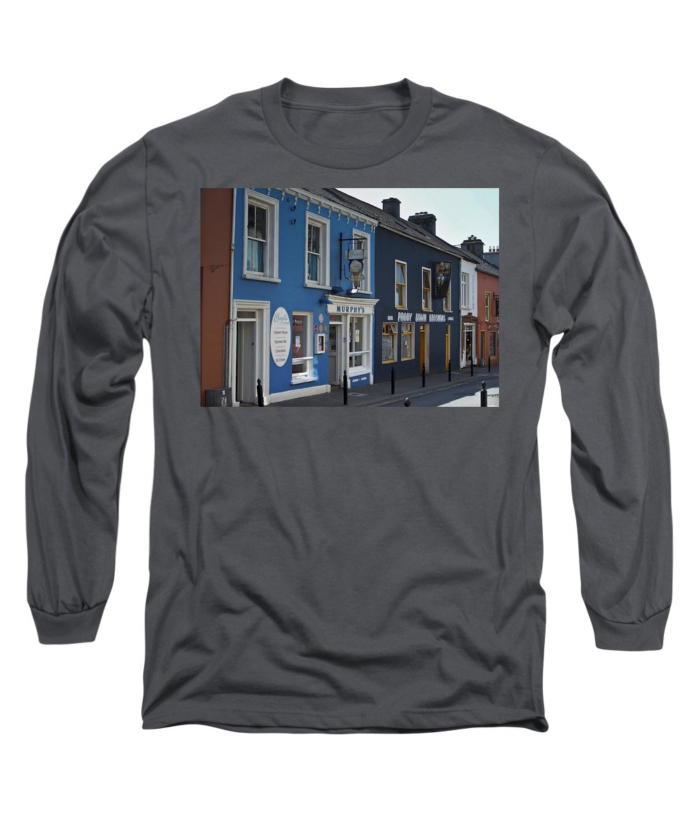 Irish Long Sleeve T-Shirt featuring the photograph Murphys Ice Cream Dingle Ireland by Teresa Mucha