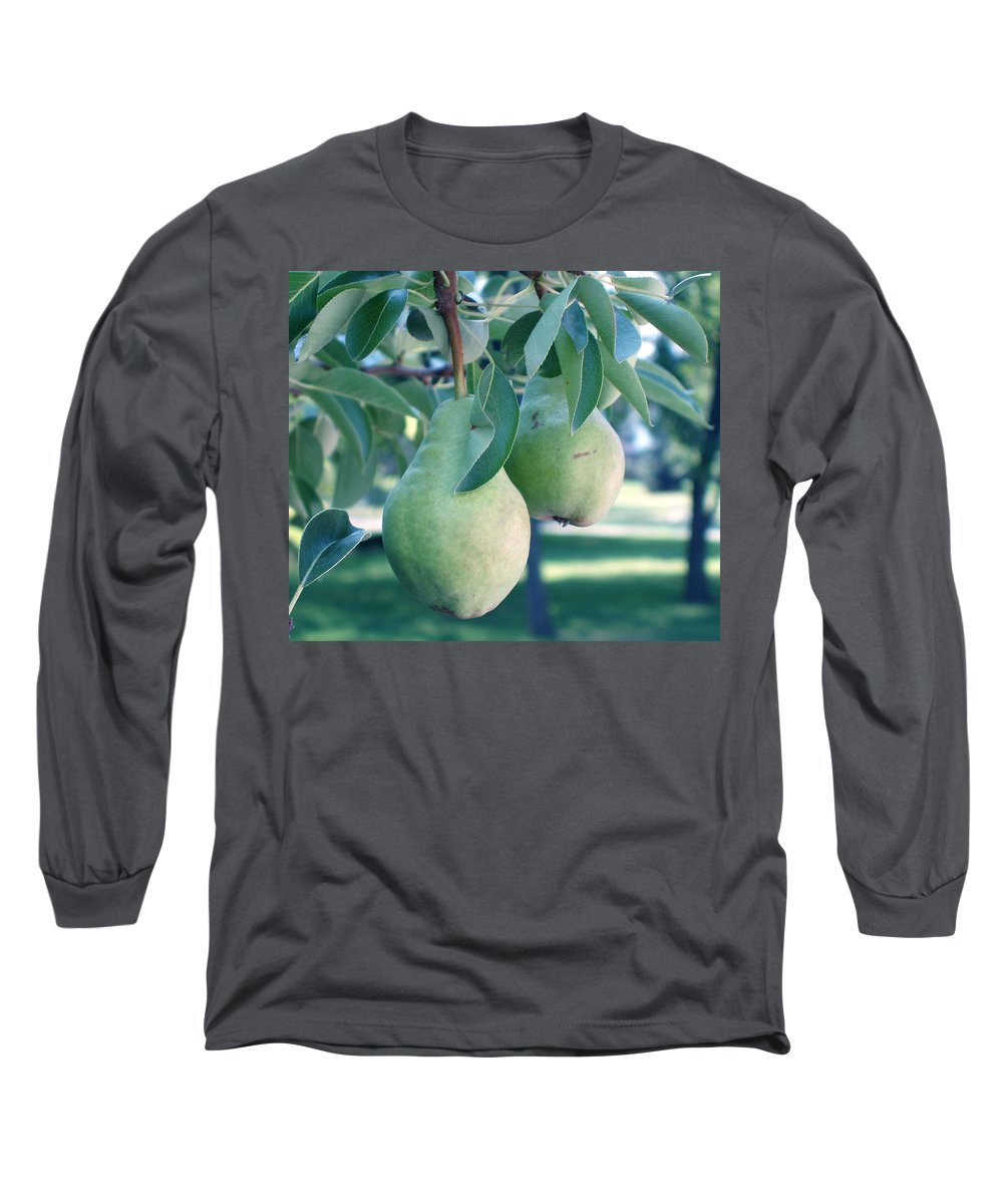 Pears Long Sleeve T-Shirt featuring the painting My Brothers Pear Tree by Wayne Potrafka