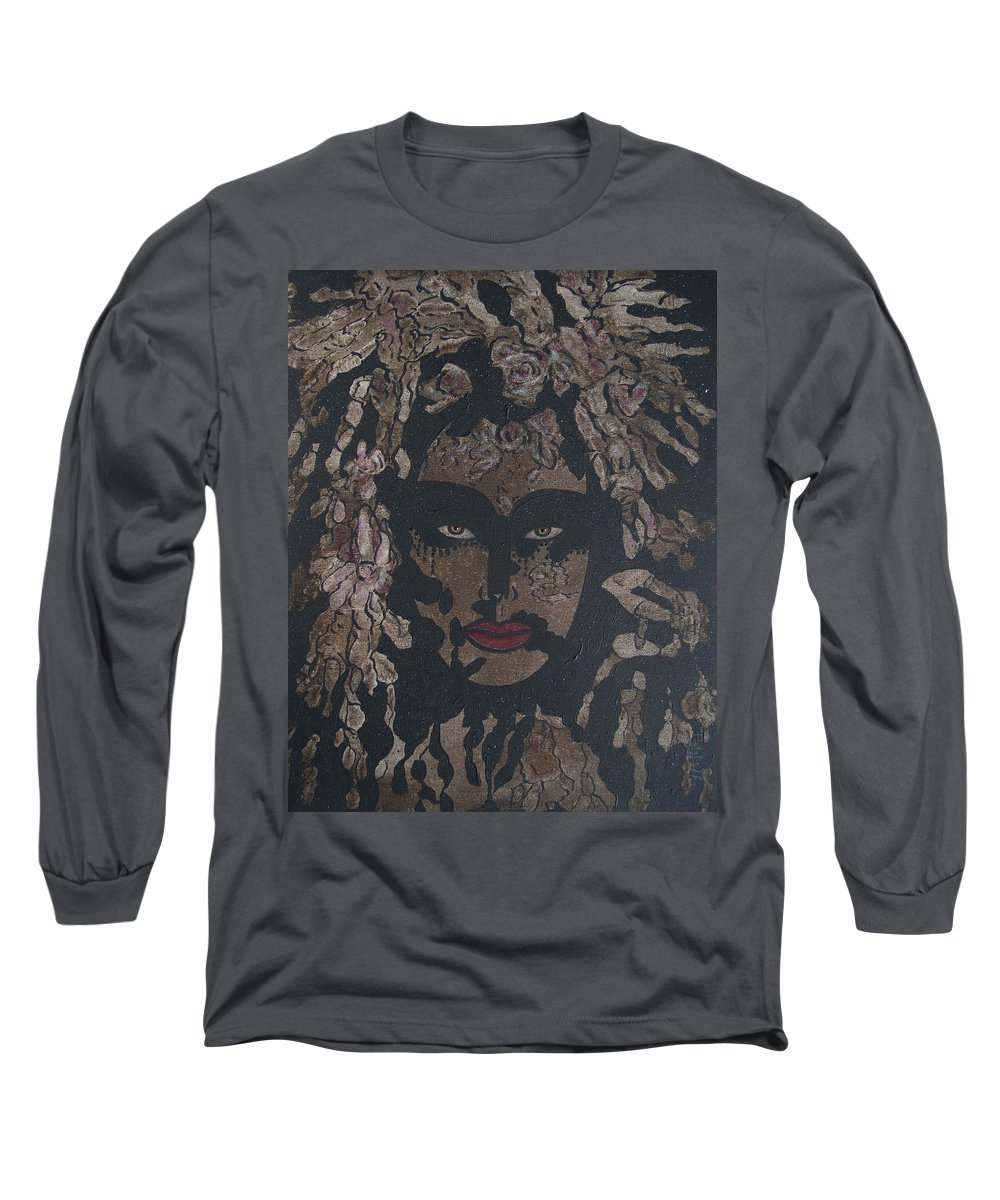 Figurative Long Sleeve T-Shirt featuring the painting Mysterious Desire by Natalie Holland