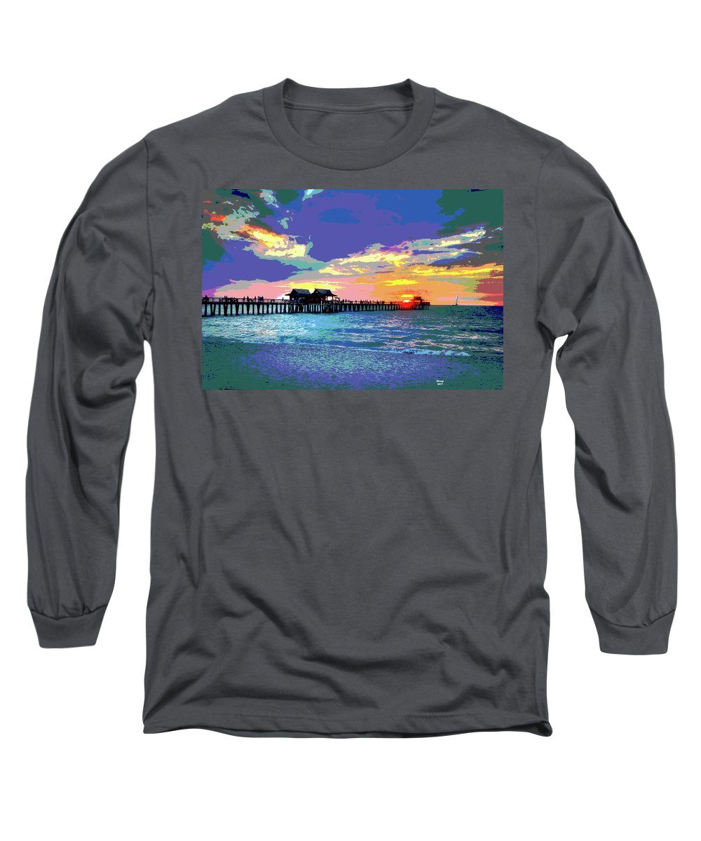 Houseboat Mixed Media Long Sleeve T-Shirts