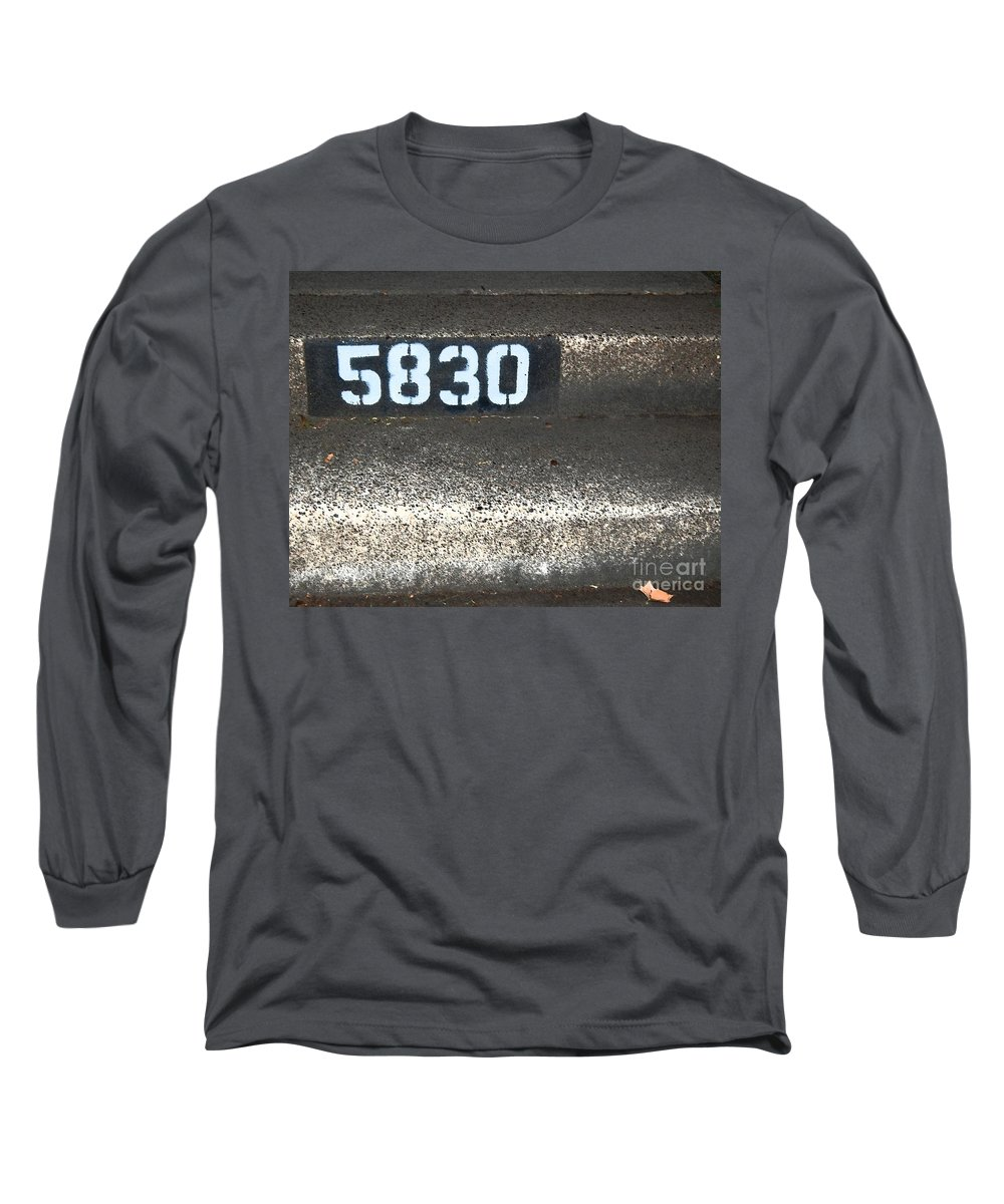 Numbers Long Sleeve T-Shirt featuring the photograph Numbers by Debbi Granruth