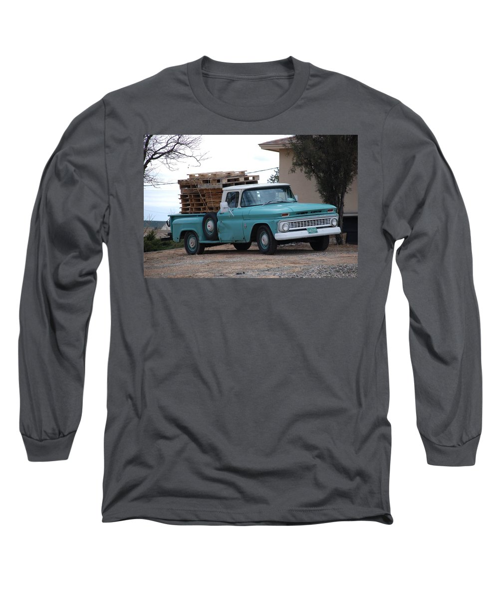 Old Truck Long Sleeve T-Shirt featuring the photograph Old Chevy by Rob Hans