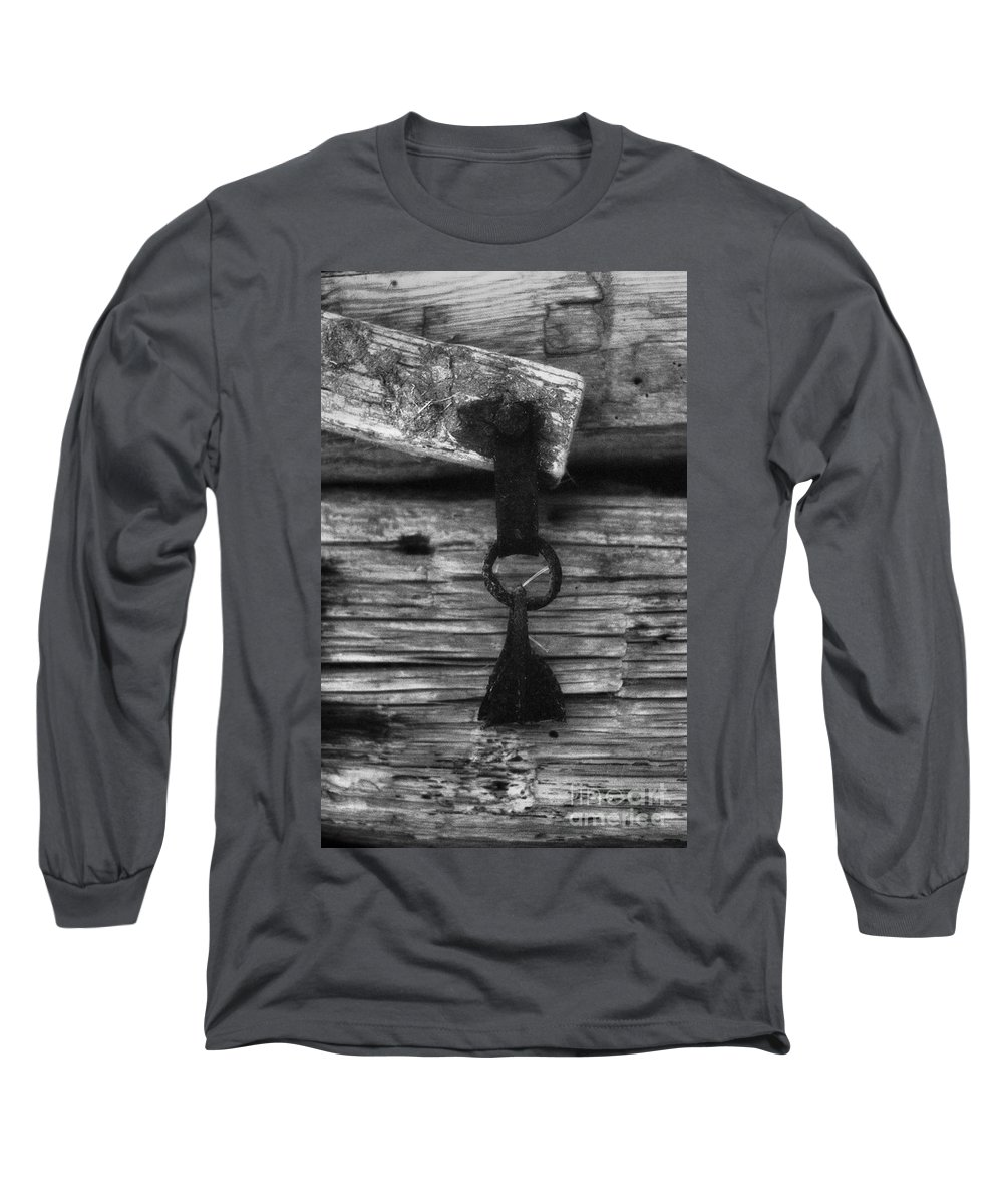 Doors Long Sleeve T-Shirt featuring the photograph Old Door Latch by Richard Rizzo