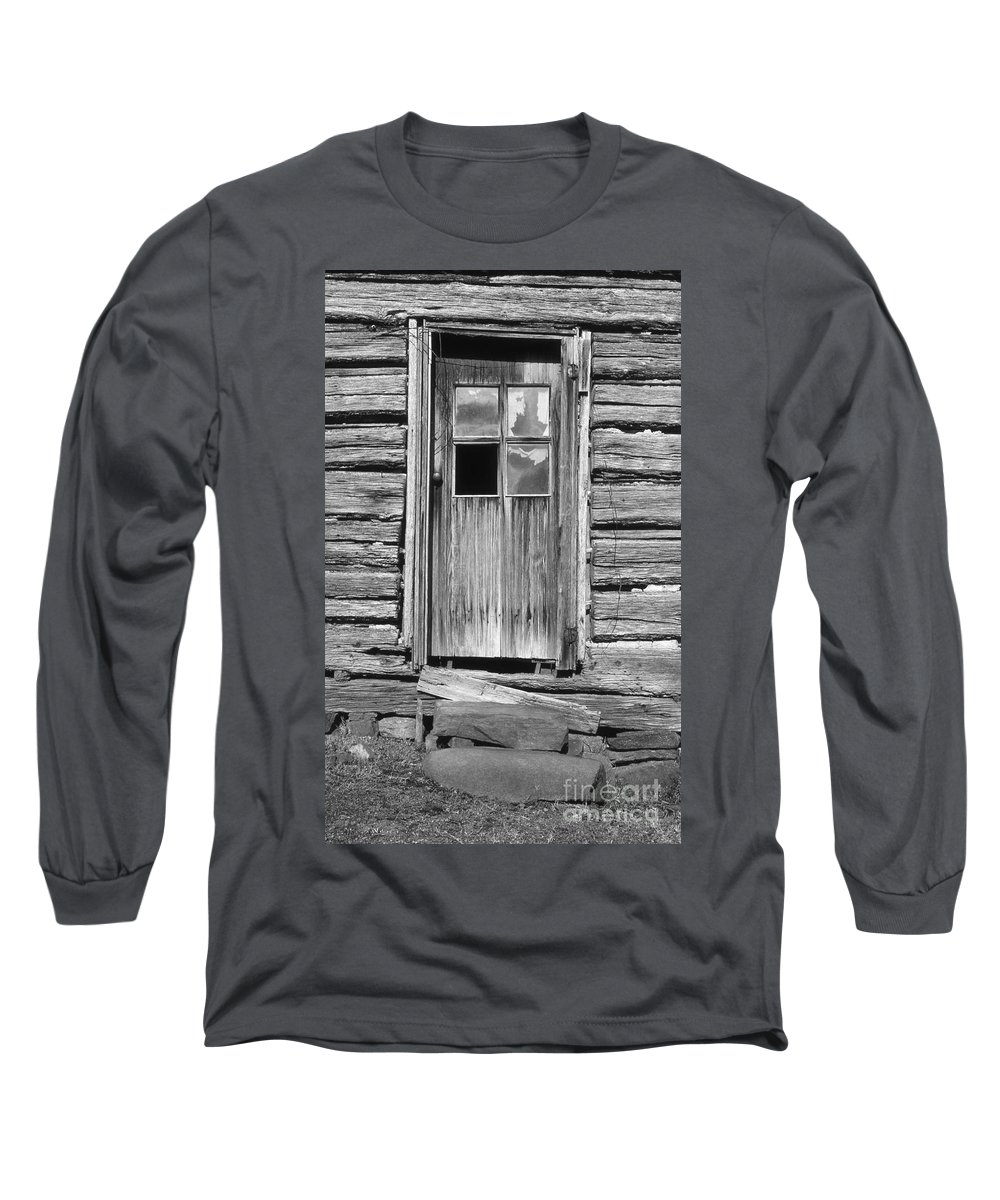 Aged Long Sleeve T-Shirt featuring the photograph Old Door by Richard Rizzo