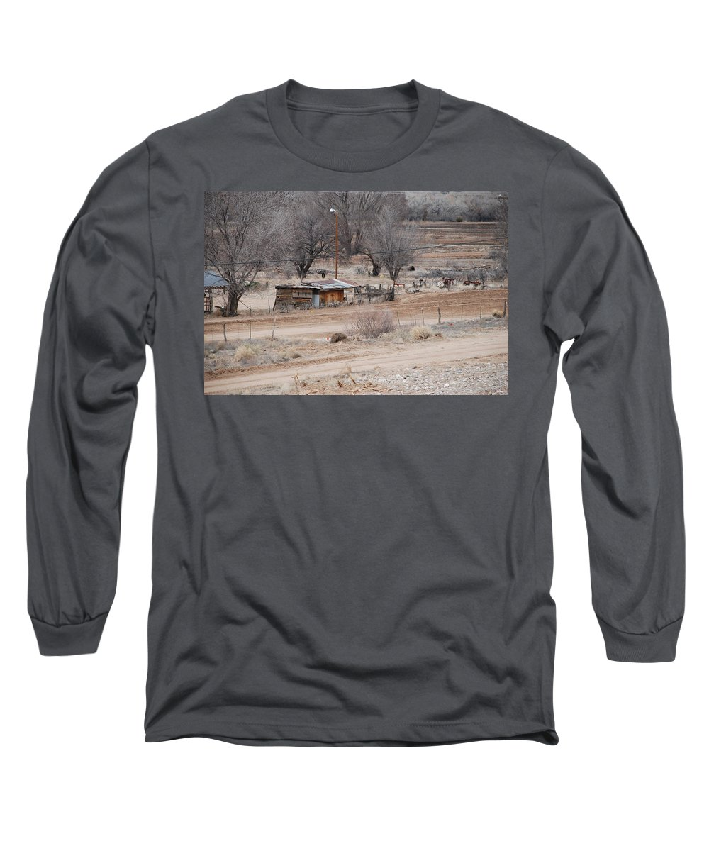 House Long Sleeve T-Shirt featuring the photograph Old Ranch House by Rob Hans