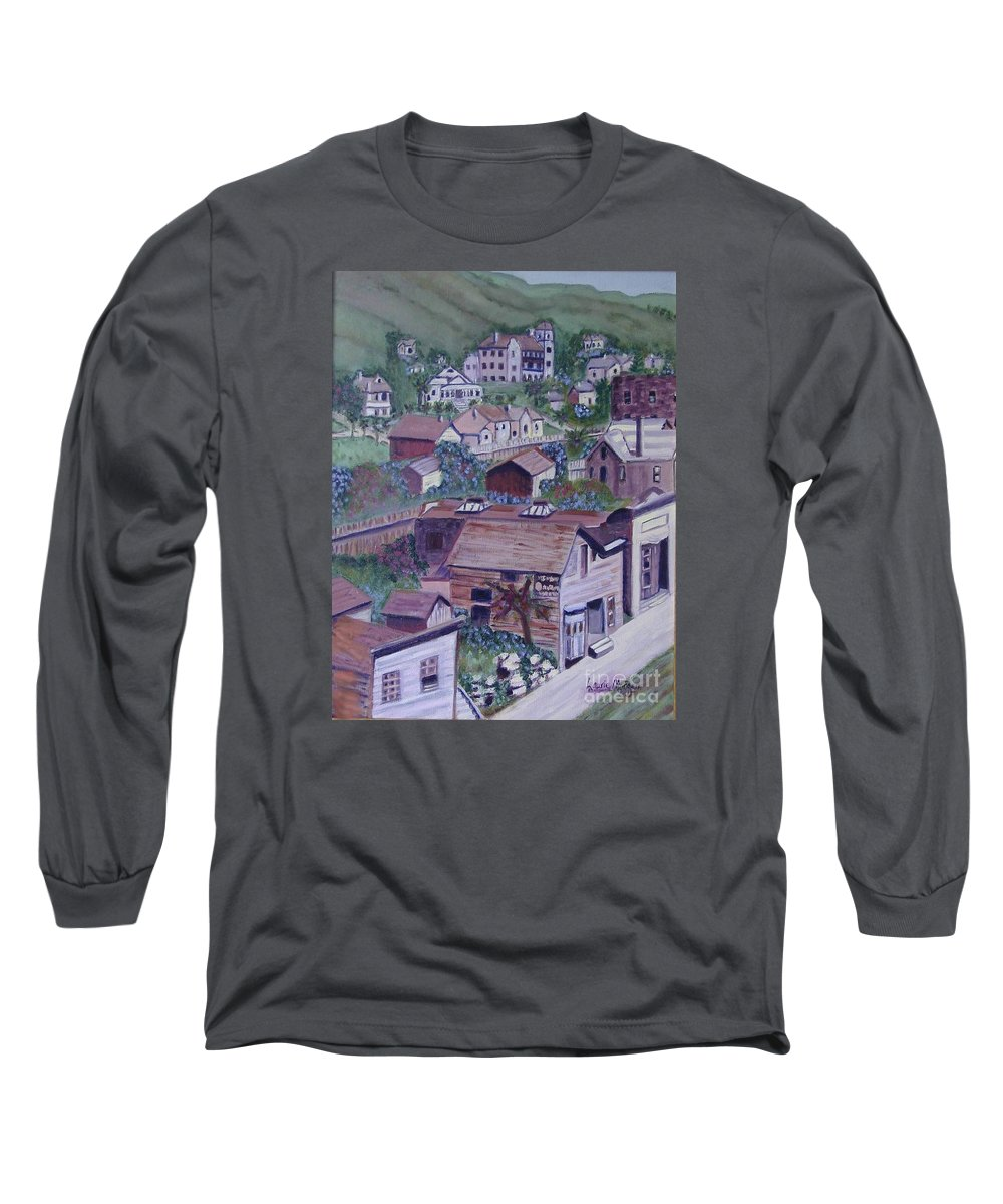 Ventura Long Sleeve T-Shirt featuring the painting Old Ventura by Laurie Morgan