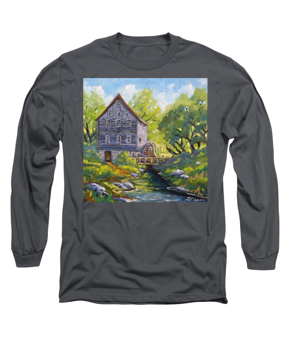Art Long Sleeve T-Shirt featuring the painting Old Watermill by Richard T Pranke