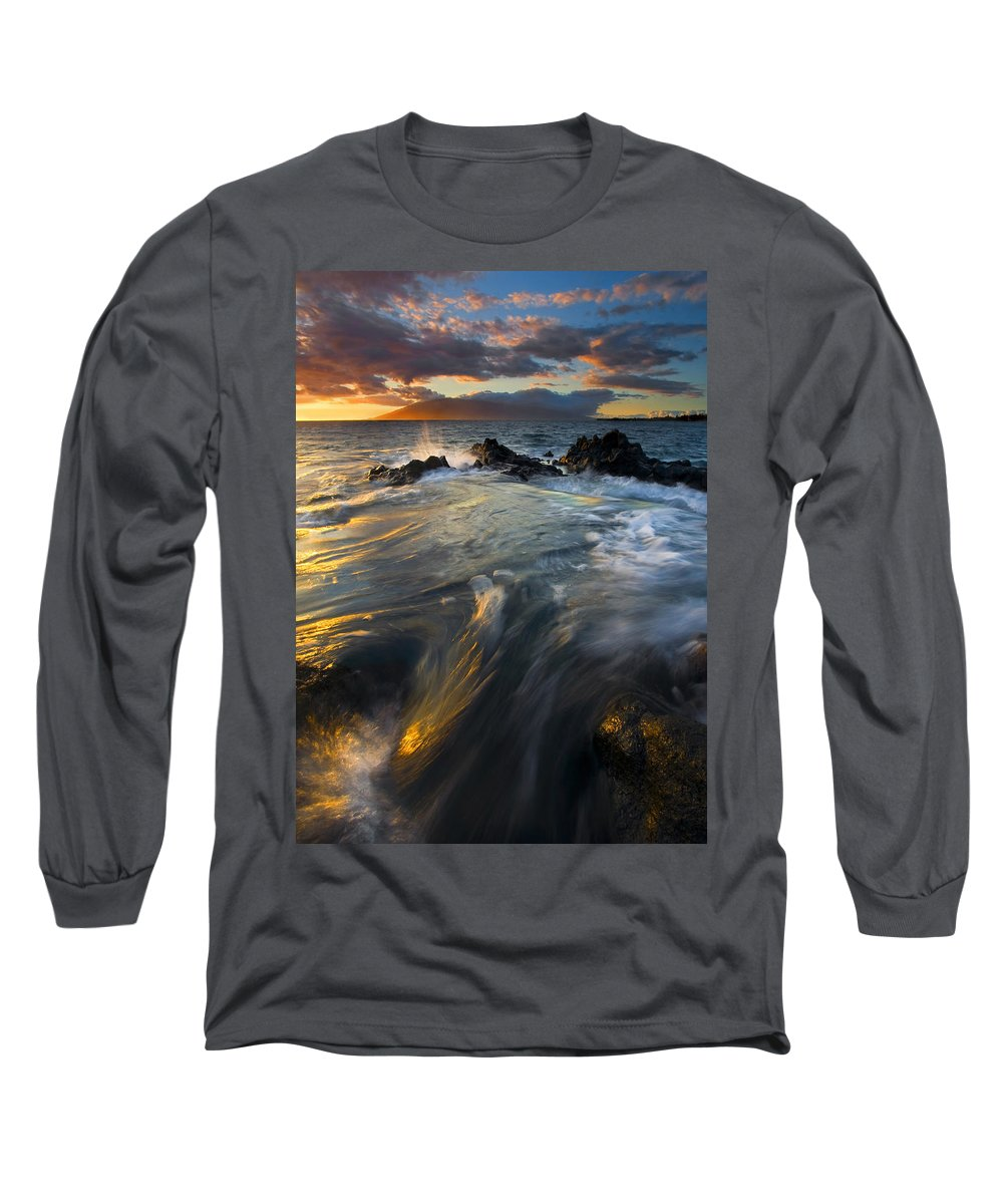 Cauldron Long Sleeve T-Shirt featuring the photograph Overflow by Mike Dawson
