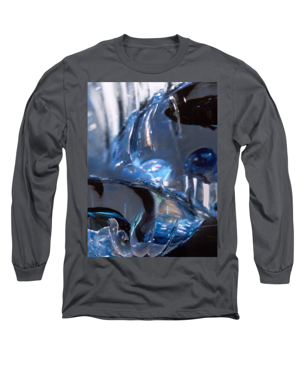 Glass Long Sleeve T-Shirt featuring the photograph Panel 2 From Swirl by Steve Karol