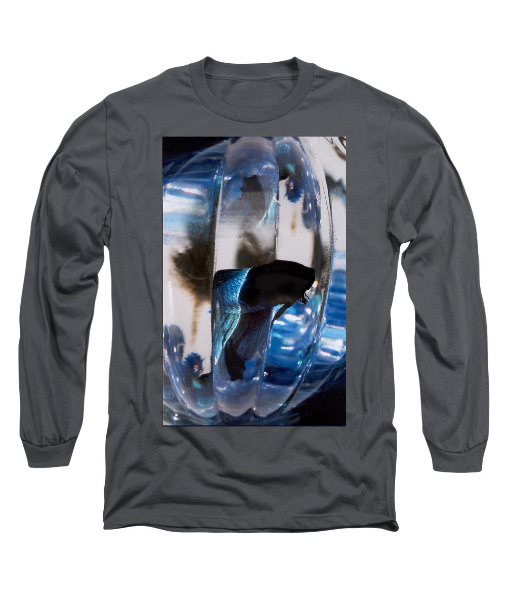 Abstract Long Sleeve T-Shirt featuring the photograph panel three from Swirl by Steve Karol