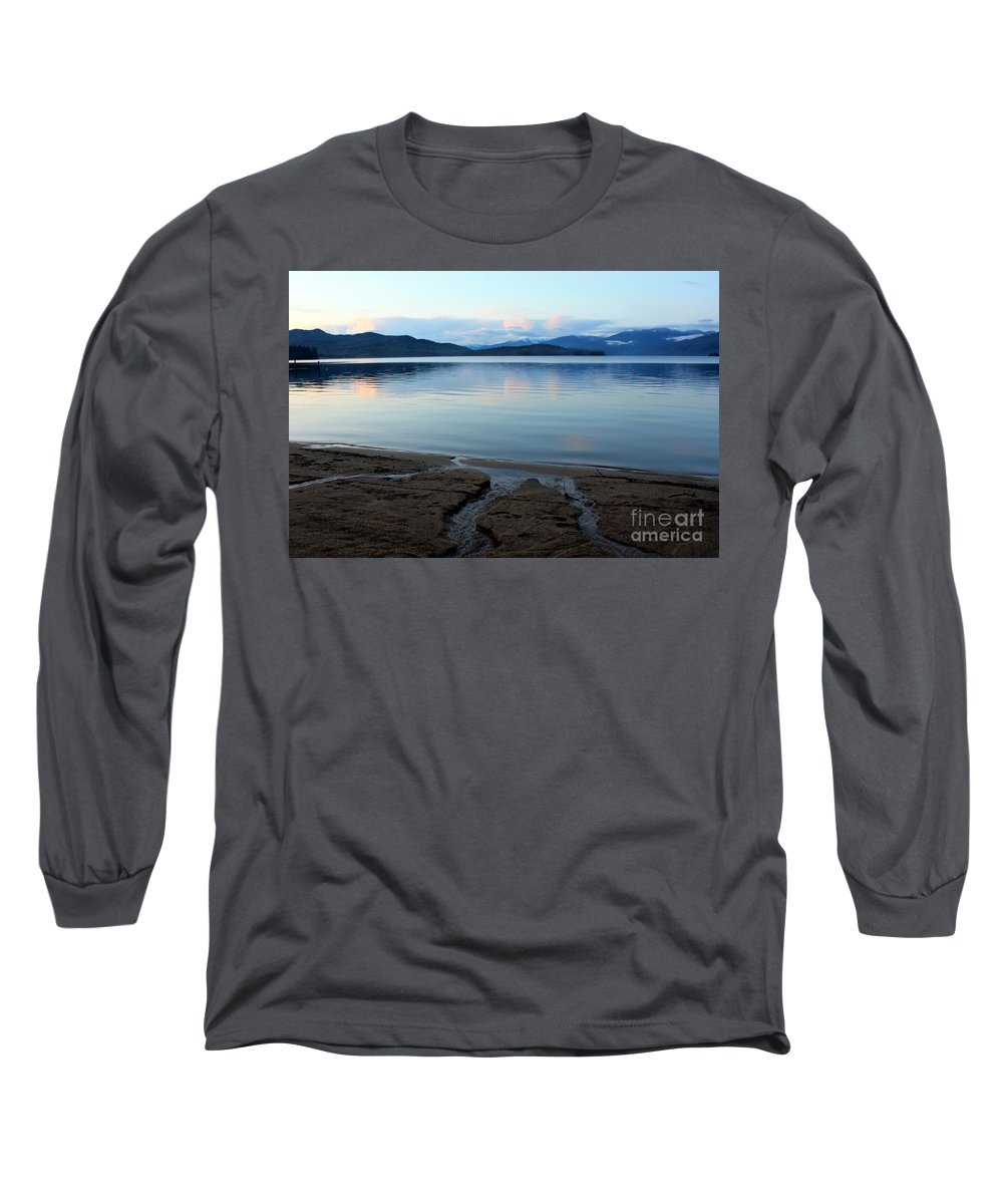 Beach Long Sleeve T-Shirt featuring the photograph Peaceful Priest Lake by Carol Groenen