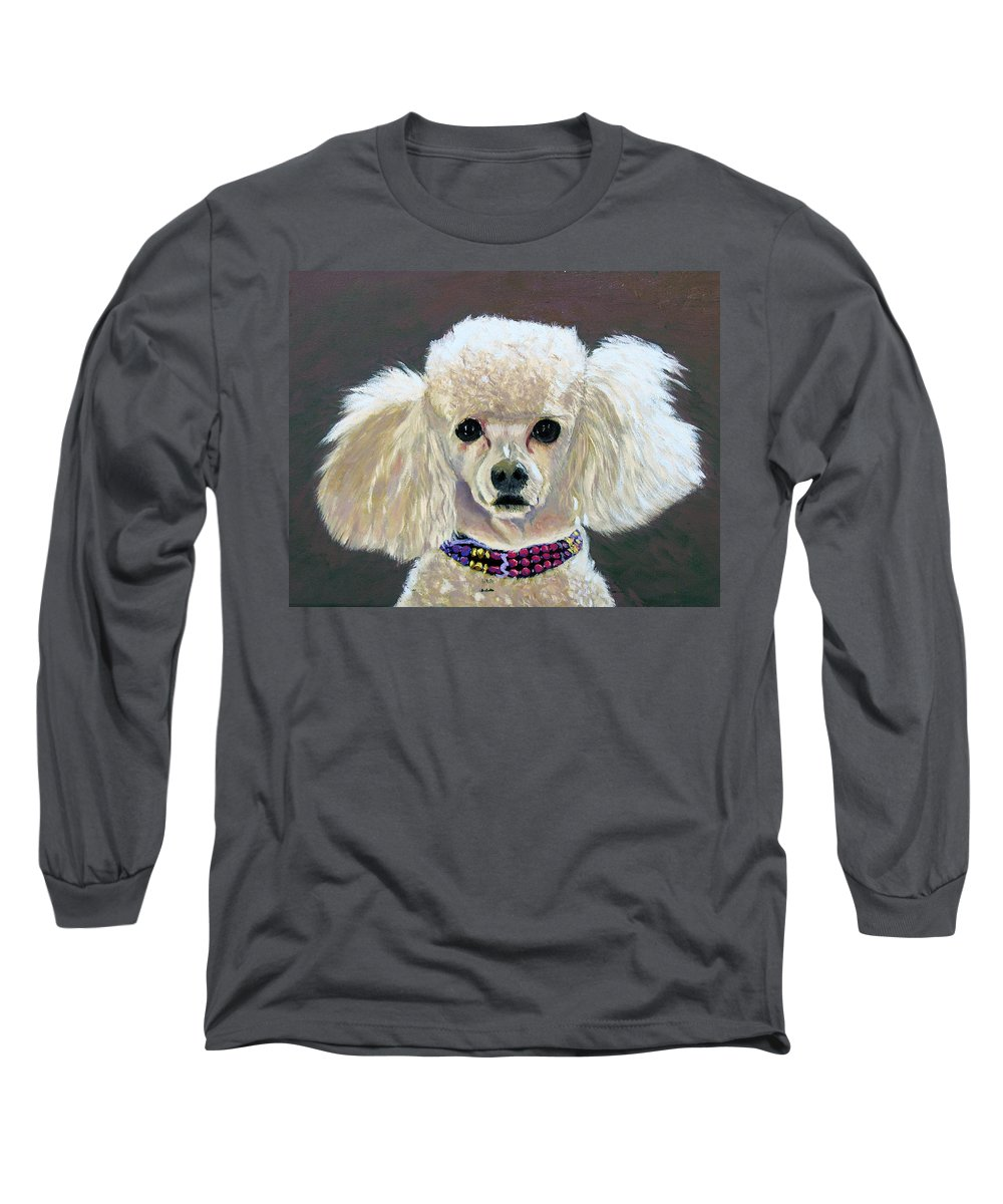 Dog Long Sleeve T-Shirt featuring the painting Pebbles by Stan Hamilton