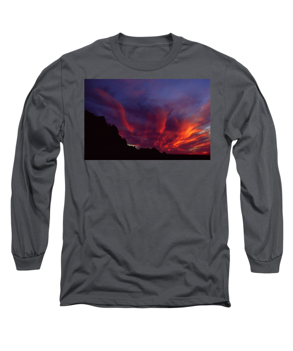 Arizona Long Sleeve T-Shirt featuring the photograph Phoenix Risen by Randy Oberg