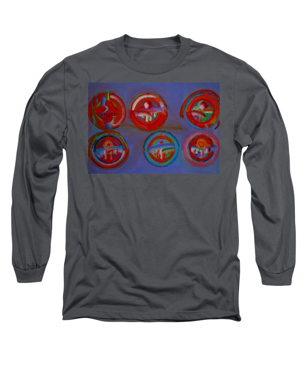 Logo Long Sleeve T-Shirt featuring the painting Plate State by Charles Stuart