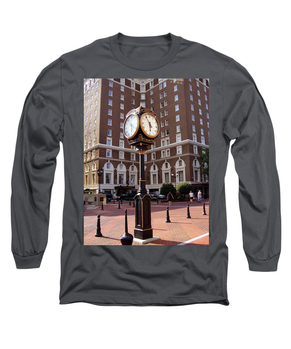 Poinsett Hotel Long Sleeve T-Shirt featuring the photograph Poinsett Hotel Greeenville Sc by Flavia Westerwelle