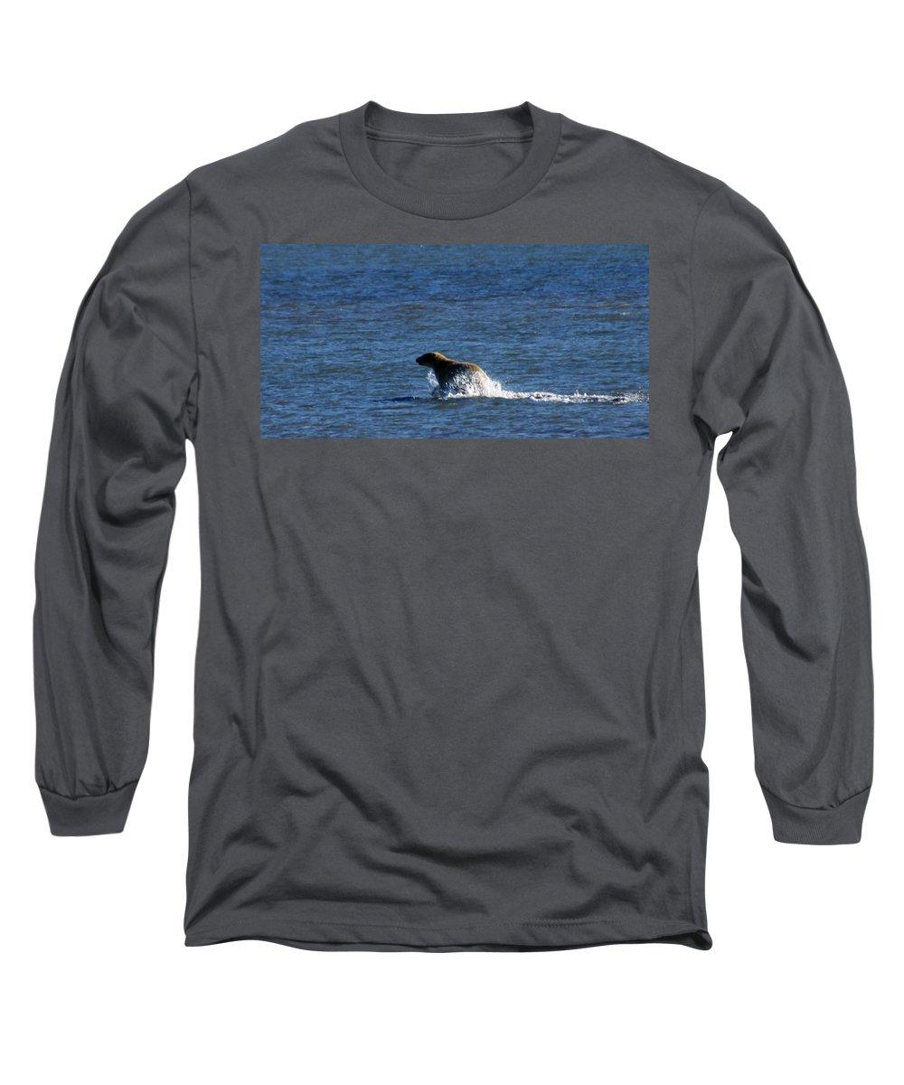 Bear Long Sleeve T-Shirt featuring the photograph Polar Bear by Anthony Jones