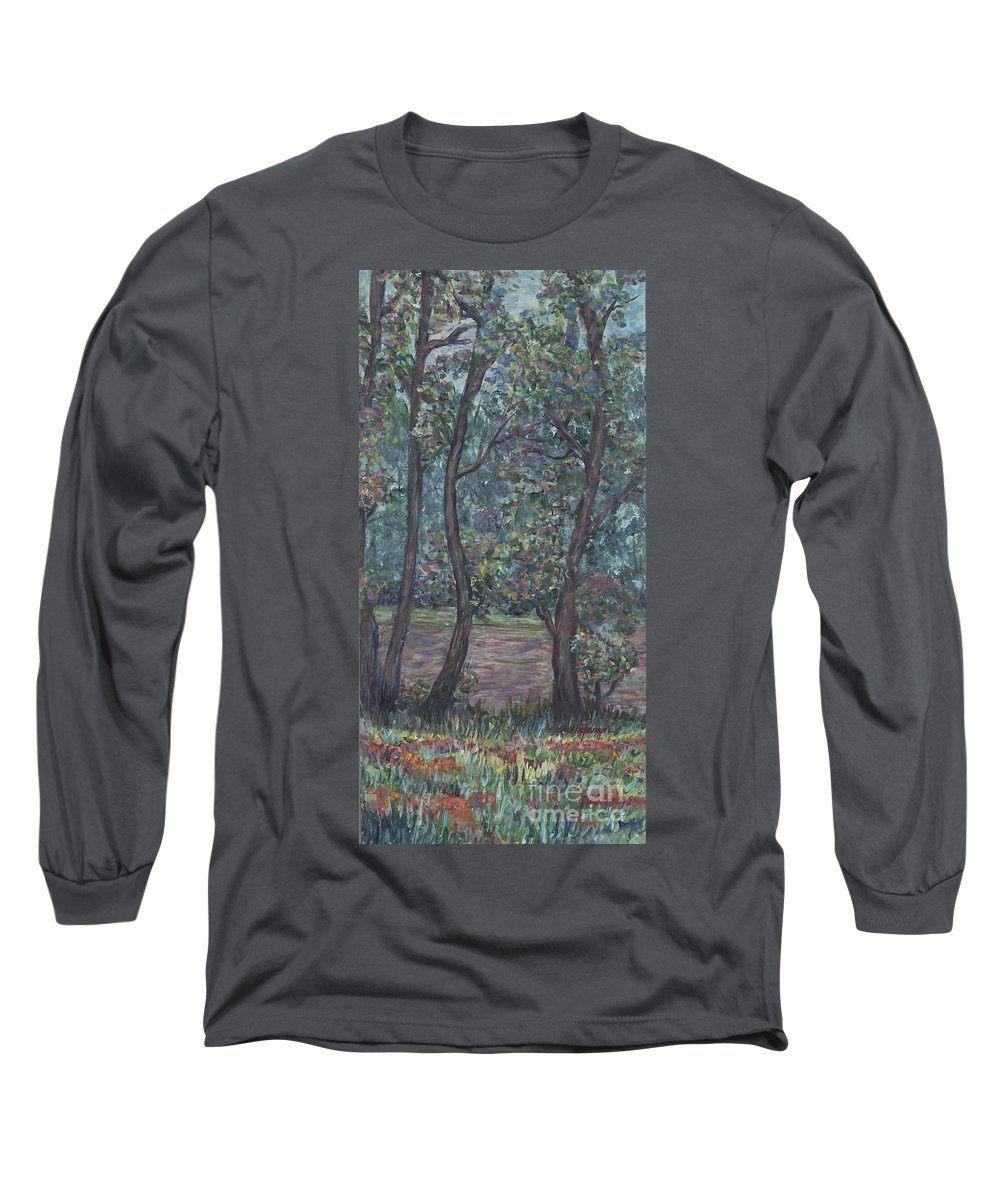 Landscape Long Sleeve T-Shirt featuring the painting Provence Flowers by Nadine Rippelmeyer