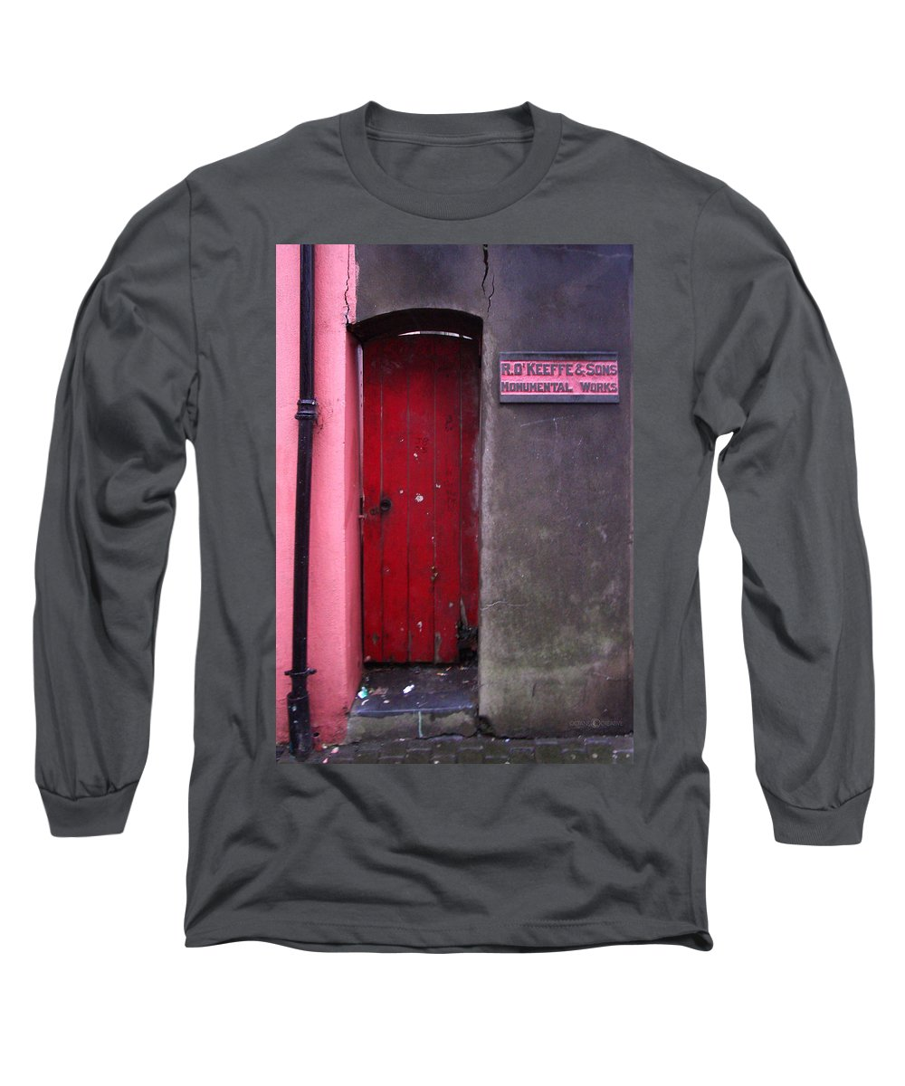 Red Long Sleeve T-Shirt featuring the photograph R. O. Keeffee And Sons by Tim Nyberg