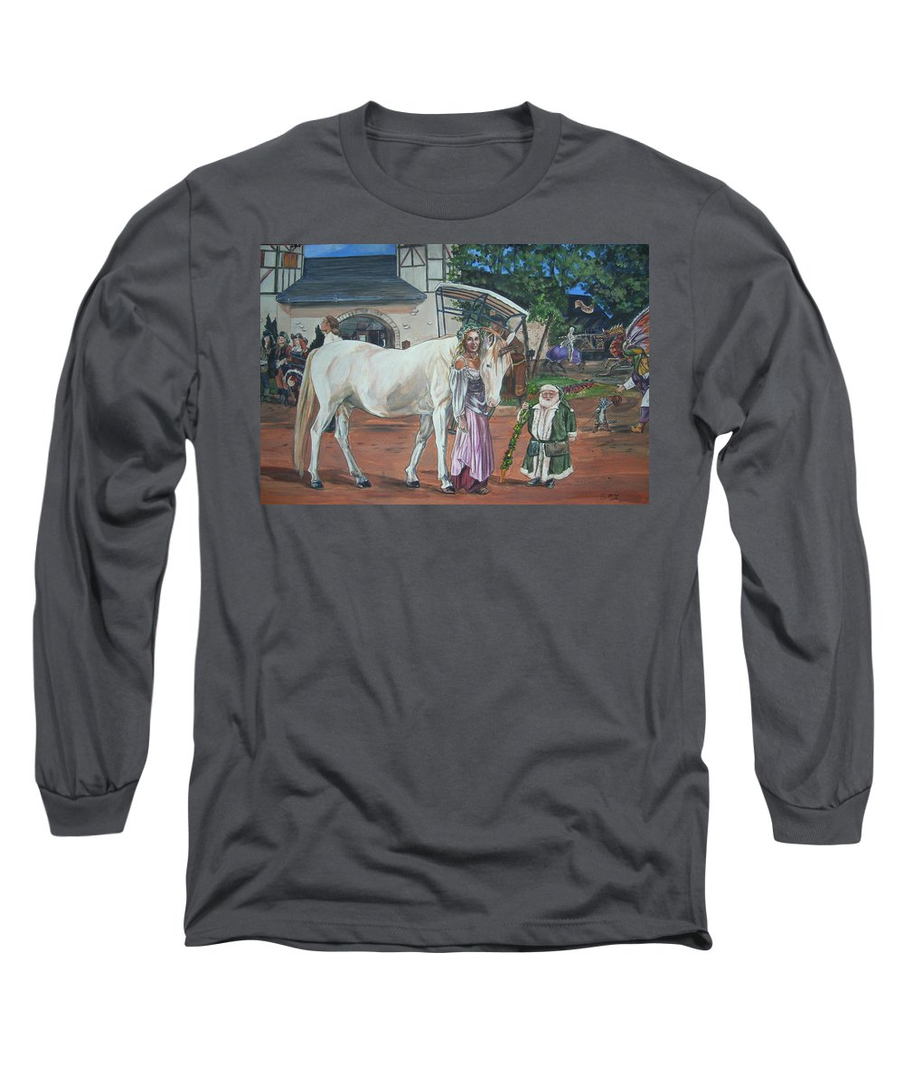 Renaissance Long Sleeve T-Shirt featuring the painting Real Life In Her Dreams by Bryan Bustard