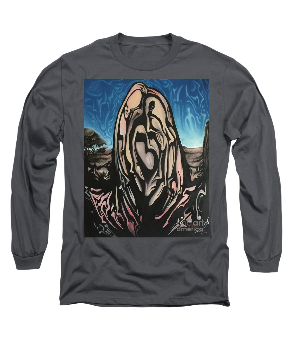 Tmad Long Sleeve T-Shirt featuring the painting Recluse by Michael TMAD Finney