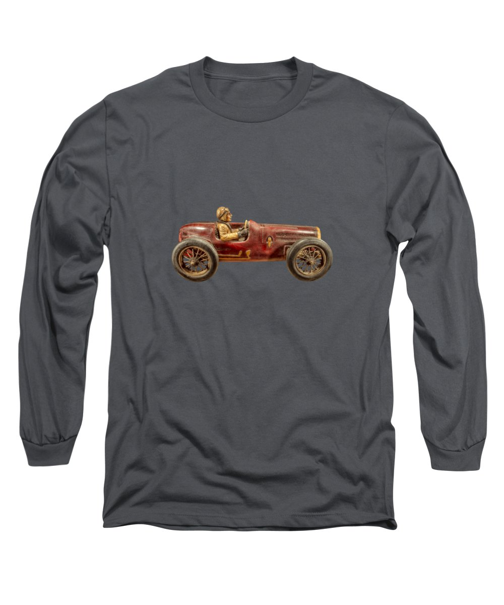 Antique Long Sleeve T-Shirt featuring the photograph Red Racer Right by YoPedro