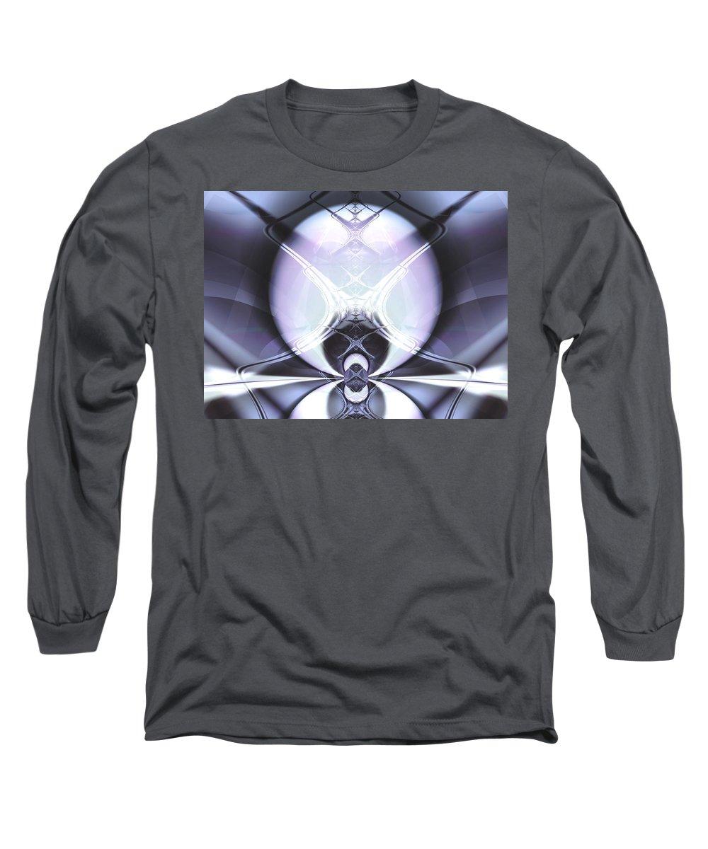 Digital Art Long Sleeve T-Shirt featuring the digital art Reflecting Gateway by Frederic Durville