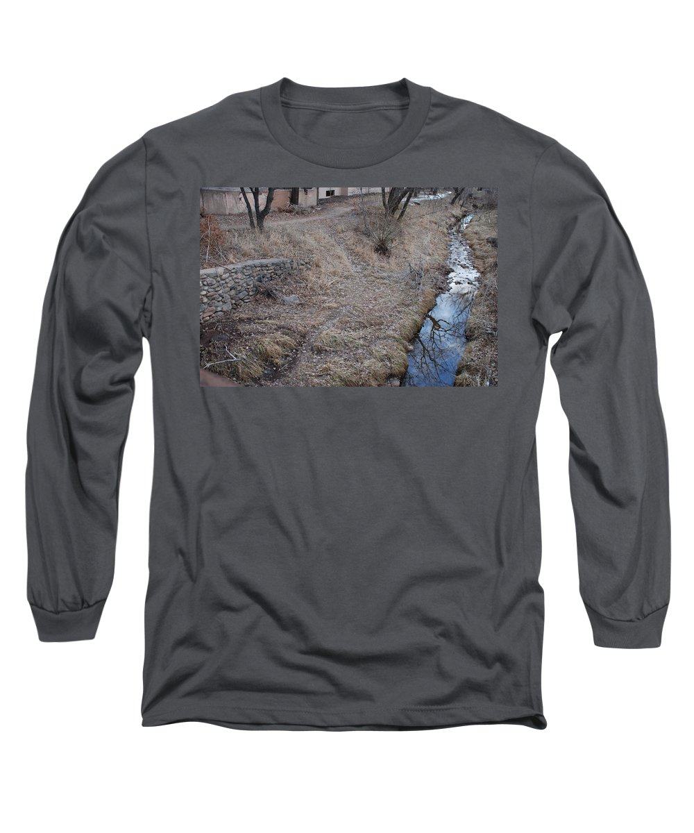 Water Long Sleeve T-Shirt featuring the photograph Reflections In The River by Rob Hans
