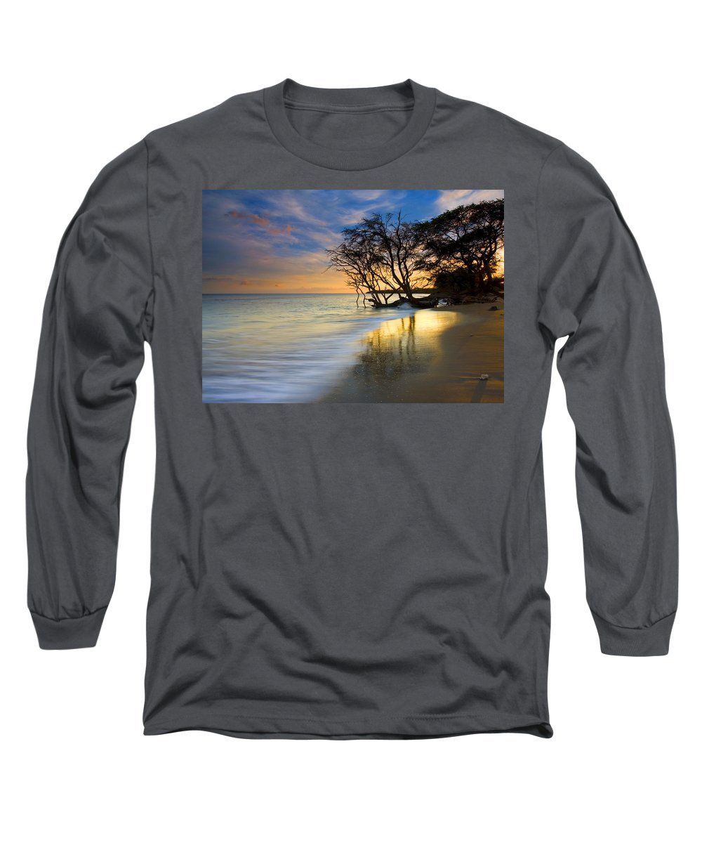 Waves Long Sleeve T-Shirt featuring the photograph Reflections Of Paradise by Mike Dawson