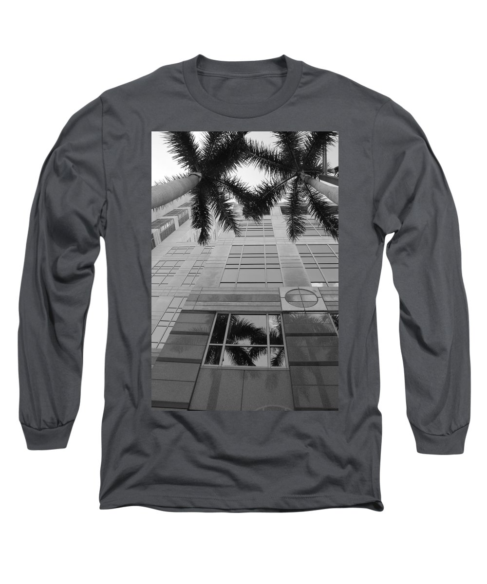 Architecture Long Sleeve T-Shirt featuring the photograph Reflections On The Building by Rob Hans
